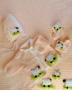 Lambie Pie Layette Crochet Pattern [PB132] - $7.99 : Maggie Weldon, Free Crochet Patterns
