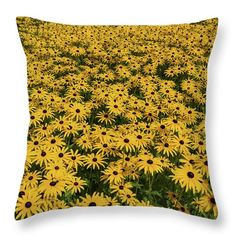 Photograph Throw Pillow featuring the photograph Field Of Yellow by David Bishop