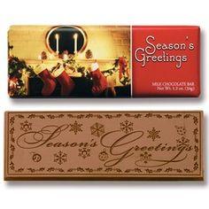Season\'s Greetings 2x5 Milk Chocolate Bar
