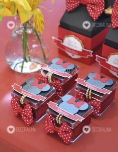 Caixinha Acrílica - Minnie Luxo Vermelha
