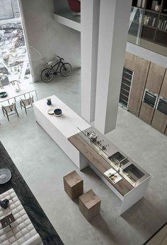 Inspiring Examples Of Minimal Interior Design 2 - UltraLinx Stainless steel /wood & concrete materials