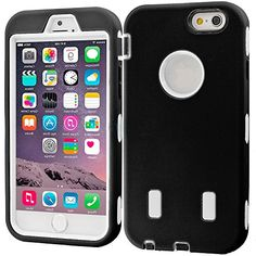 """myLife Layered Protection """"Built In Screen Protector"""" Heavy Duty Case for iPhone 6 Plus (5.5"""" Inch) by Apple {Panther Black + Angelic White """"Tuff Shockproof Armor"""" Three Piece SECURE-Fit Rubberized Gel} myLife Brand Products http://www.amazon.com/dp/B00QKUTTQA/ref=cm_sw_r_pi_dp_FKIHub1CS0WK2"""