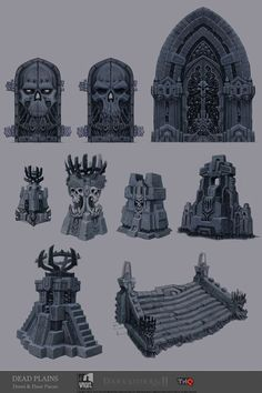 Darksiders II Concept Art by Jonathan Kirtz: