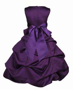 Purple Flower Girl Dress tie sash pageant by ekidsbridalusa
