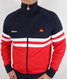 Ellesse Rimini Track Top in Navy/Red/White,Ellesse Rimini Jacket