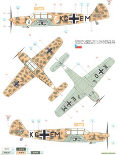 Here is the Messerschmitt Bf 108B North Africa Camouflage Color Profile