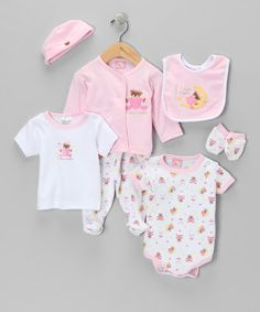Take a look at this Pink 'I Love Daddy' Layette Set by Sweet & Soft on #zulily today!