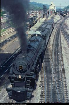 RailPictures.Net Photo: N&W 1218 Norfolk & Western Steam 2-6-6-4 at Bluefield, West Virginia by Sid Vaught