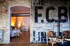 Fantastic vintage chic event space in Toronto - The Burroughes Building at Queen & Bathurst. Toronto Architecture, Brick Room, Capital Of Canada, Brookfield Place, Fundraising Events, Fundraiser Event, Royal Ontario Museum, New Years Eve Weddings, University Of Toronto