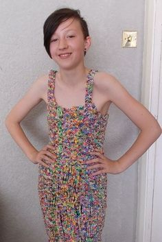 You don't have to just make bracelets - someone made a dress out of loom bands and put it on eBay. The current bid stands at £170,100.00. | 22 Reasons Why The Loom Bands Craze Is A Menace And Needs To Stop