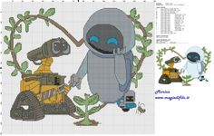 Schema punto croce Wall E e Eva 150x130 19 colori.jpg (4.96 MB) Osservato 70 volte