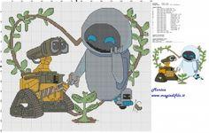 Schema punto croce Wall E e Eva 150x130 19 colori.jpg