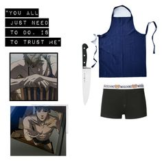 """Killing Stalking - Sangwoo"" by nyannoodles on Polyvore featuring West Elm, Moschino, J.A. Henckels, Polaroid, men's fashion and menswear"