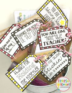 These are simple teacher appreciation gifts all under one dollar! These gifts were all found at the Target dollar spot. Volunteer Gifts, Volunteer Appreciation, Teacher Appreciation Week, Principal Appreciation, Teacher Treats, Teacher Gifts, School Treats, Teacher Stuff, Teacher Thank You