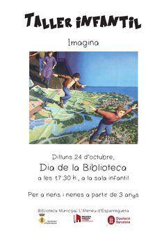 Dilluns 24 d'octubre (Dia de la Biblioteca) 2/4 de 6 de la tarda, taller infantil: imagina