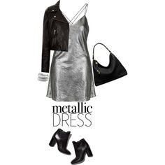 How To Wear Heavy Metal Metallic Dresses (Top Fashion Set 10.25.16) Outfit Idea 2017 - Fashion Trends Ready To Wear For Plus Size, Curvy Women Over 20, 30, 40, 50