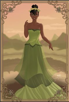 I was bored, so I did one of Tiana from The Princess and the Frog made by [link] Tiana Disney Movie Characters, Disney Villains, Disney Movies, Disney Princess Tiana, Disney Princesses, Belle French, Dark Disney, Disney Nerd, Princess Collection