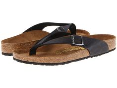 Birkenstock Adria Black Oiled Leather - 6pm.com