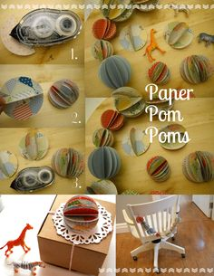 We're loving these paper pom poms, they're so easy to make!