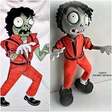 Fofucho Zombie Michael Jackson Thriller engo el gusto de diseñar este fofucho Michael Jackson Thriller y Thriller  para el pequeño Héctor Damián, un niño precioso súper fans de Michael Jackson espero que haya sido de su agrado