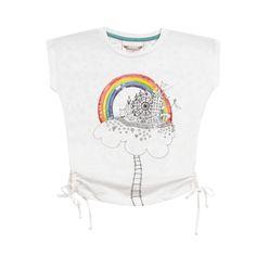 Paper Wings Cloud Dreaming Keyhole Tee: Designer Kid Clothes | Children's Clothing | Evolution Kids Emporium