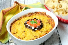 I dated a guy who loved to cook. He would tell me what he was making and they never had normal names! It was scary at first, so I started looking at his recipes. Eased my mind. He was a good cook! This unusually named dip is the only name it has ever had, but why I never did find out!  This is a layered, sassy, hot Mexican bean dip, baked to allow all the flavors to melt together. He always made two batches, side by side, one hot, and one mild. I like a choice of toppings to add. I am for…