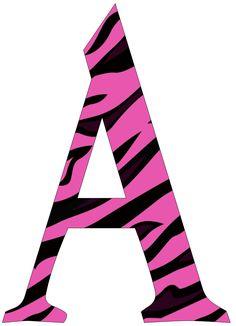 EUGENIA - KATIA ARTES - BLOG DE LETRAS PERSONALIZADAS E ALGUMAS COISINHAS: Alfabeto Pink zebrado