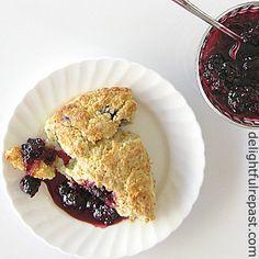 The Ultimate Pinterest Party, Week 144  Fresh Blackberry Scones - that *aren't* purple! / www.delightfulrepast.com
