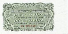 5 Korún ceskoslovenských 1953 (Wappen),  Tschechoslowakei Dritte Republik