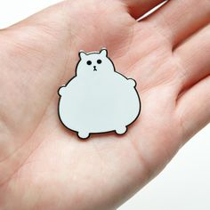 Enamel cat brooch - Fat Kitty Pin Fat Kitty can travel anywhere with you thanks to this beautiful hard enamel brooch. Put him on your jacket,