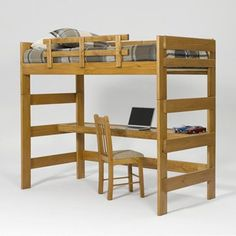 Have to have it. Heartland Honey Loft Bed with Desk $500