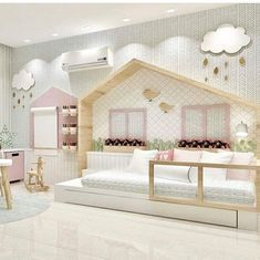 kleinkind zimmer 160 fun kids playroom ideas to inspire you - page 31 Baby Bedroom, Girls Bedroom, Bedroom Decor, Nursery Room, Girl Nursery, Childs Bedroom, Trendy Bedroom, Kids Room Design, Little Girl Rooms