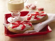 Easy Peppermint Candy Cookies   Holiday Cottage