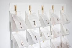 White Sack Advent Calendar by Merry Mishap blog