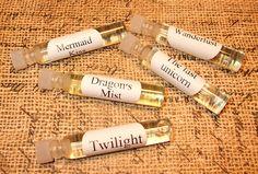 ENCHANTED Perfume Sampler 1  Set of 5 by DragonflyMoonLotions, $5.00