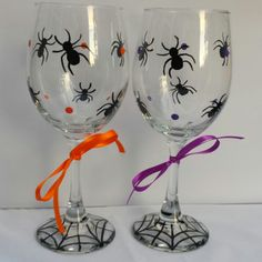 I just listed Halloween Spiders Wine Glass on The CraftStar @TheCraftStar #uniquegifts