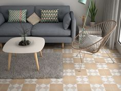 Our pastel vintage patterned tiles include softer beige, lilac, dusty pink and pale blue tones, perfect for a more elegant, traditional interior. Tiles, Tile Patterns, Traditional Interior, Furniture, Table, Interior, Floor Decor, Coffee Table, Home Decor