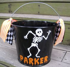 Personalized Halloween bucket