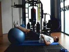 Active Life Physiotherapy -- beginning core-strength ball exercises to improve trunk strength (especially helpful for hypotonic adolescents and adults)