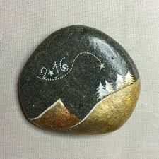 Image result for new years painted rock