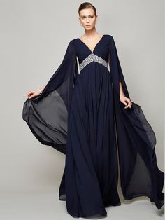 Prom Dress Beautiful, Fashion A-Line/Princess Long Sleeves Beading V-neck Long Chiffon Dresses Discover your dream prom dress. Our collection features affordable prom dresses, chiffon prom gowns, sexy formal gowns and more. Find your 2020 prom dress Navy Prom Dresses, Unique Prom Dresses, Plus Size Prom Dresses, Popular Dresses, Bride Dresses, Chiffon Dress Long, Beaded Chiffon, Empire, Robes D'occasion