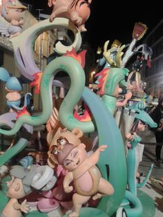 Fallas de Benicarló 2014 Monuments, Smurfs, Fictional Characters, Artworks, Fantasy Characters, Archaeological Site