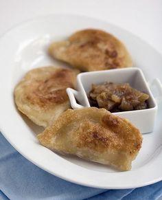 Potato Pierogi With Caramelized Onions  pierogies by isachandra, via Flickr