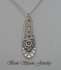 Silverware Jewelry Spoon Jewelry Spoon by Bentspoonjewelry on Etsy, $16.00