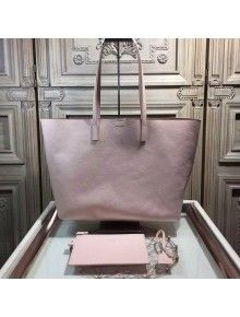 Saint Laurent 354105 Tote Bag In Grained Calfskin Pink Fabulous Handbags Review