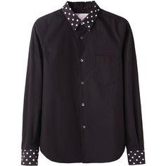 Comme des Garçons Shirt Dots Collar Shirt ($304) ❤ liked on Polyvore