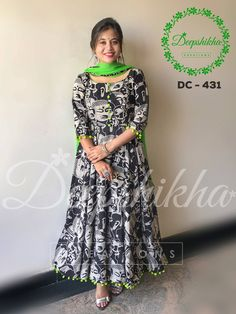 DC 431. Beautiful floor length anarkali dress with pom pom hangings.For queries kindly WhatsApp : +91 9059683293 29 October 2017