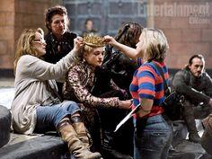 King Joffrey (Jack Gleeson) behind the scenes of Game of Thrones season 2
