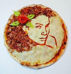 portraits pizzas de wlhelm rodriguez girl   Les portraits pizzas de Wilhelm Rodriguez   Wilhelm Rodriguez video steve jobs portrait pizza ph...