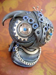 From the Craftster Community: Mechanical Owls - POTTERY, CERAMICS, POLYMER CLAY